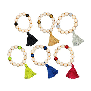 Top view of our Bead Tassel Bracelets