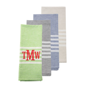 Monogrammed image of our Twill Stripe Dish Towel