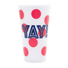 "Load image into Gallery viewer, Front view of ""YAY!"" Versed Tumbler"