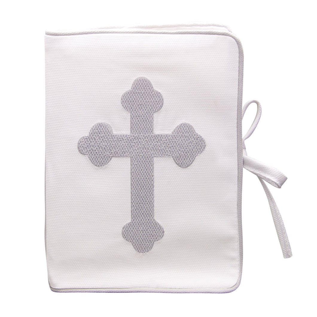 Front view of our White Christening Photo Album