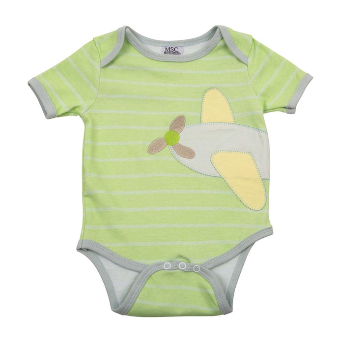 Front of the airplane baby onesie