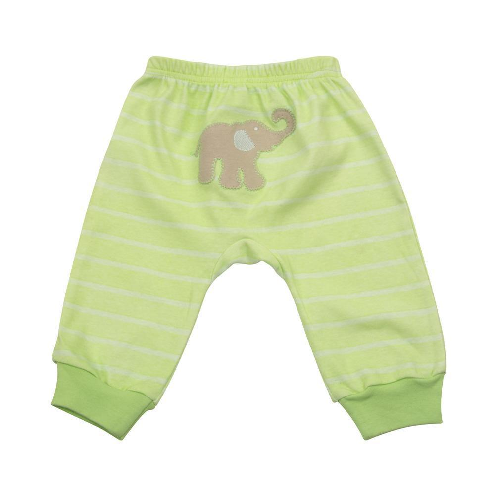 Elephant Lime Stripe Pants 0-6 Months