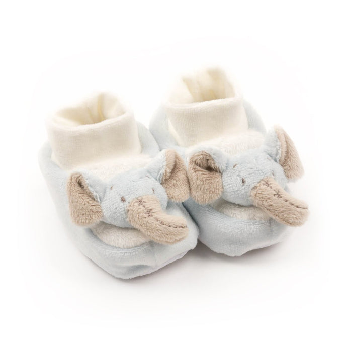 Blue Elephant Plush Baby Slippers