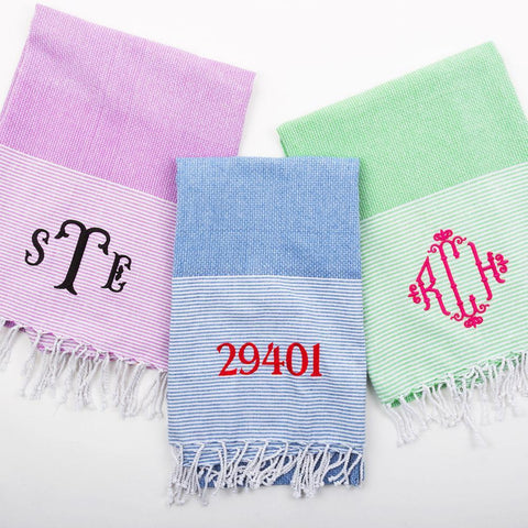 Beach Towels Monogrammed