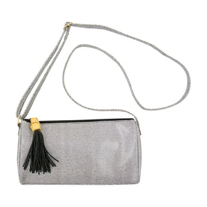Front view of our Black Bamboo Classy Crossbody