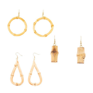 Front view of our Bamboo Earrings