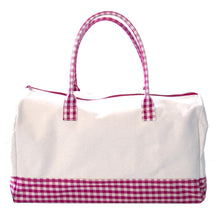 Load image into Gallery viewer, Pink Gingham Getaway Duffle Bag
