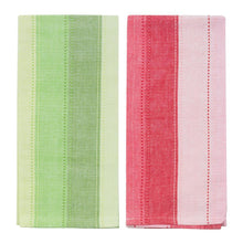 Load image into Gallery viewer, Holiday Ombre Stripe Dish Towels