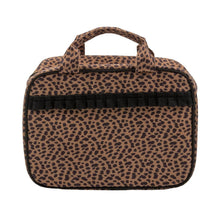 Load image into Gallery viewer, Leopardista Carolina Cosmetic Bag with Black Trim