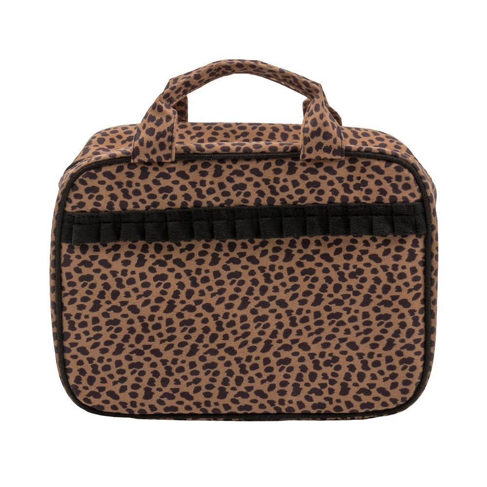 Leopardista Carolina Cosmetic Bag with Black Trim