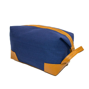 Navy canvas dopp kit