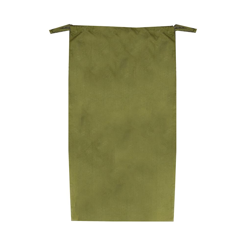 Forest green canvas laundry bag