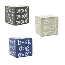 Load image into Gallery viewer, Front view of our Pet Wooden Cubes