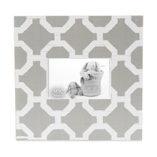 Load image into Gallery viewer, Front view of our Grey and White Trellis Picture Frame