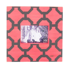 Load image into Gallery viewer, Front view of our Red and Black Trellis Picture Frame