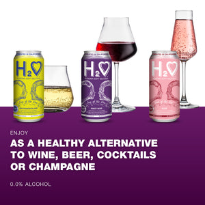 H2O® Sonoma Soft Seltzer Wine-Infused Beverage with 0.0% Alcohol - 16 FL OZ CAN - [3 x (4-PACK)]