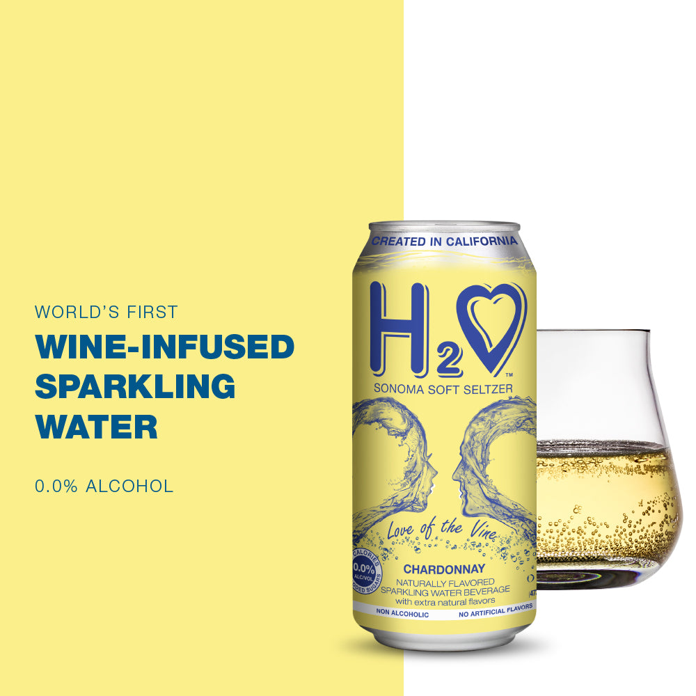 H2O® Soft Seltzer wine-infused Chardonnay with 0.0% alcohol - 16 Fl oz Can (4-Pack)