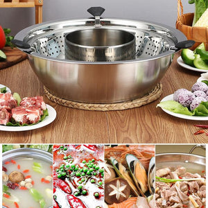 Stainless Steel Casserole Rotating Pot