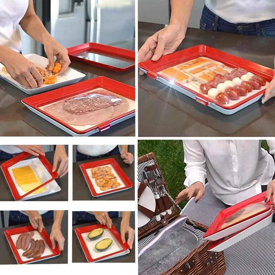 Creative Food Preservation Tray / Food Reusable Tray