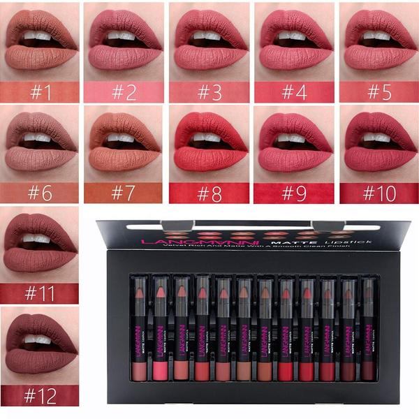 Long-Lasting Waterproof Matte (12 Pcs/Set)