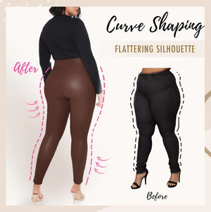 Plus Size Perfect Fit Leather Leggings