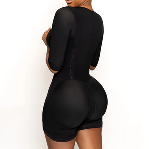 Seamless Shapewear Bodysuit With Sleeves