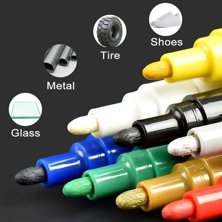 Waterproof, Non-Toxic, Permanent Tire Paint Pen