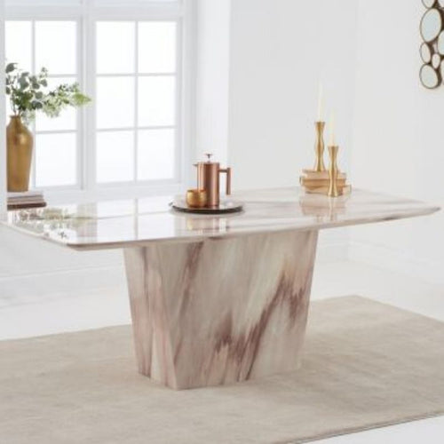 Fariah 200cm Marble Dining Table - Brown Marble - The Home Collections