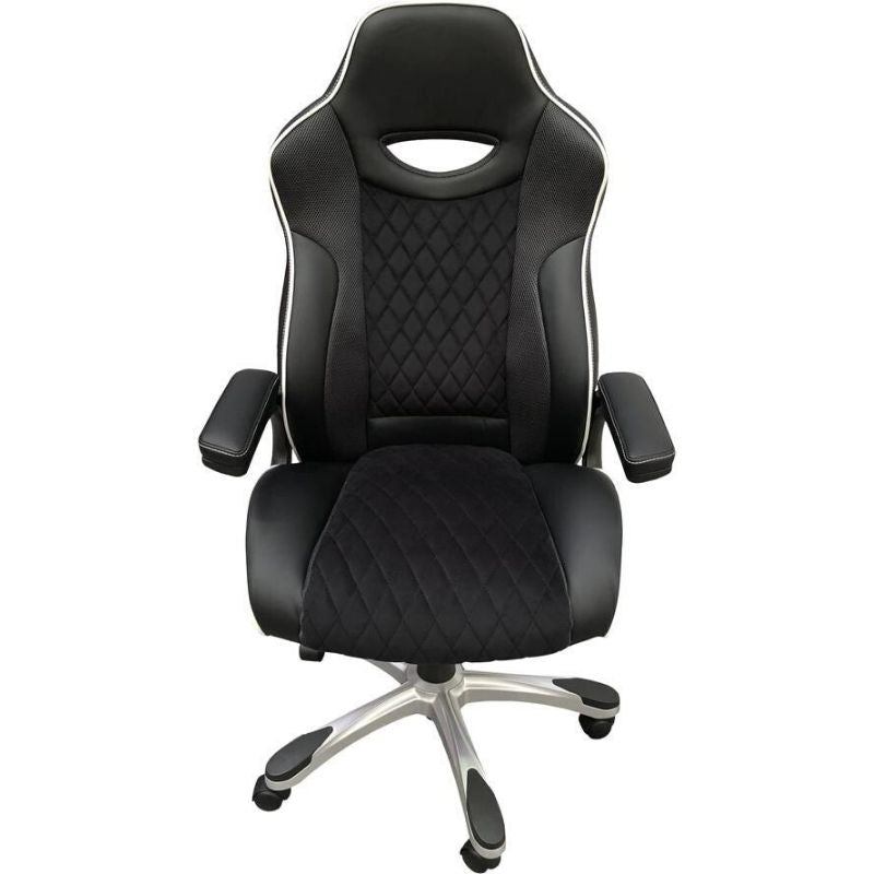 Silverstone Faux-Leather Tilting Executive Chair - The Home Collections