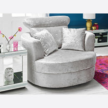 Load image into Gallery viewer, Bliss Large Swivel 2 Seater in Grey with scattered cushions - The Home Collections