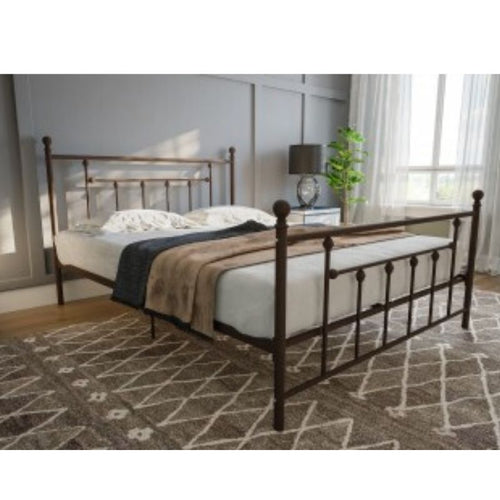 Manila Metal Bed White Double UK - The Home Collections