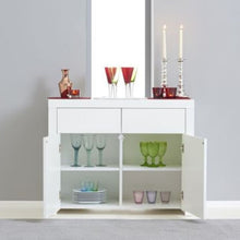 Load image into Gallery viewer, Hereford 2 Door 2 Drawer White High Gloss Sideboard - The Home Collections