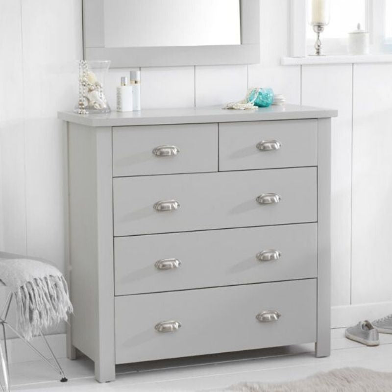 Sandringham Grey 4 + 3 Drawer Chest - The Home Collections
