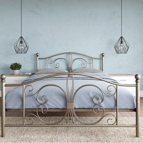 Manila Metal Bed Bronze King UK - The Home Collections