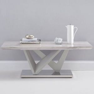 Rosario High Gloss Light Grey Coffee Table - The Home Collections