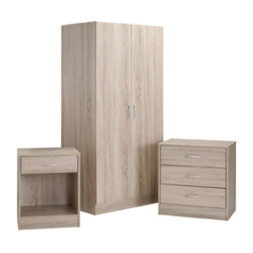 Delta Bedroom Set Oak - The Home Collections