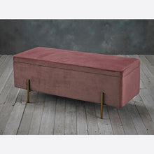 Load image into Gallery viewer, Lola Storage Ottoman Grey - The Home Collections