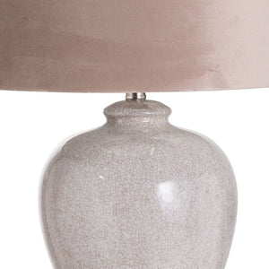 Hadley Ceramic Table Lamp With Natural Shade
