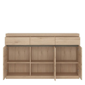 Kensington 3 Door 3 Drawer Sideboard - The Home Collections