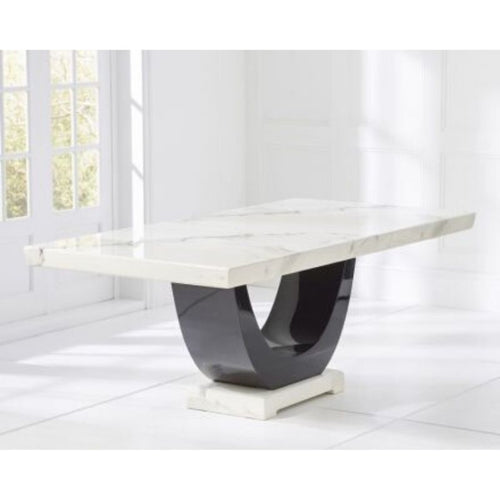 Rivilino White 200cm Marble Dining Table - The Home Collections