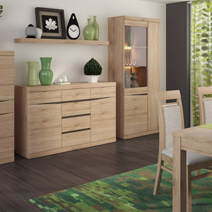 Kensington Living 2 door 3+3 drawer sideboard in Oak - The Home Collections