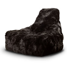 Load image into Gallery viewer, Mighty B Bean Bag Black 100% Fur - The Home Collections