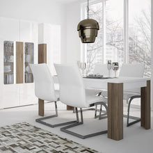 Load image into Gallery viewer, Dining set package Toronto 160 cm Dining Table + 4 Milan High Back Chair Black. - The Home Collections