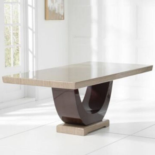Rivilino Brown 200cm Marble Dining Table - The Home Collections