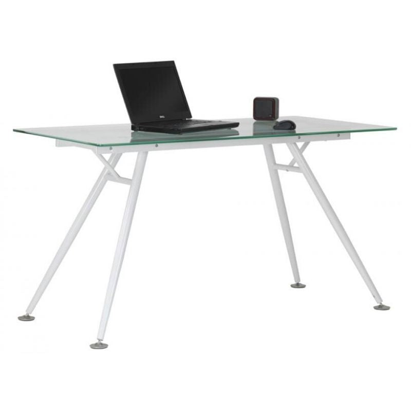 Springfield Glass Computer Desk - The Home Collections