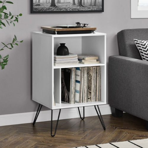 Concord Turntable Stand White - The Home Collections