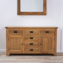 Load image into Gallery viewer, York 150cm Oak 2 Door + 6 Drawers Sideboard - The Home Collections