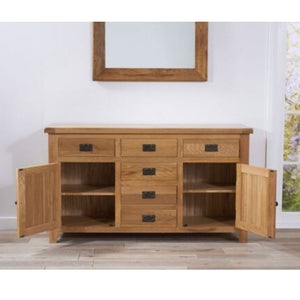 York 150cm Oak 2 Door + 6 Drawers Sideboard - The Home Collections