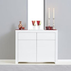 Hereford 2 Door 2 Drawer White High Gloss Sideboard - The Home Collections