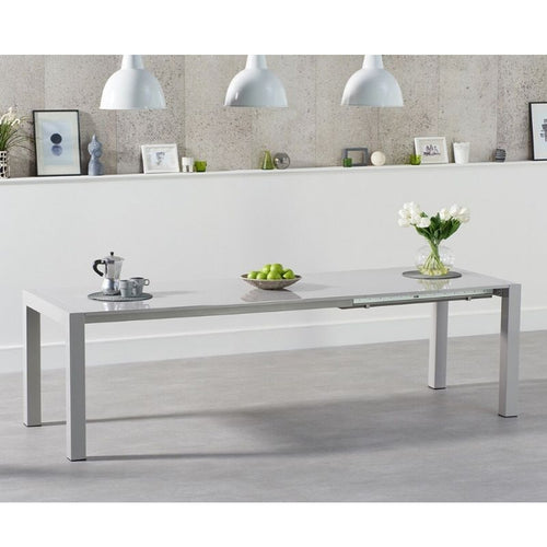 Jamie Extending Light Grey High Gloss Dining Table - The Home Collections